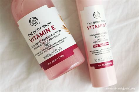 Toner Vit E The Shop the shop vitamin e range review sabrina tajudin malaysia lifestyle