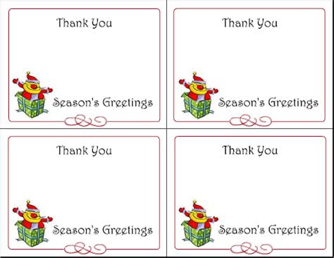 merry thank you card template 6 printable gift tags cards thank you