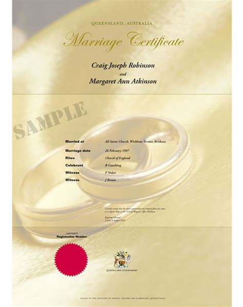 Marriage Certificate Records Applying For A Marriage Certificate Your Rights Crime And The Queensland