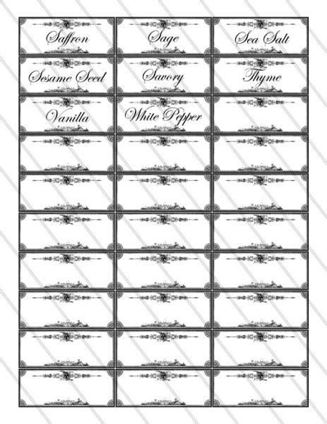 spice jar label templates free printable spice jar labels spice labels printable