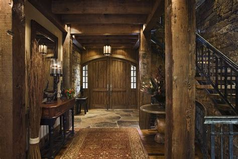 rustic house design  western style ontario residence