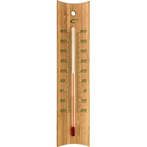 Patio Thermometer by Bamboo Indoor Outdoor Thermometer 20cm