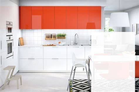 Beau Prix Cuisine Ikea Complete #1: cuisine-ringhult-blanc-rouge-ikea.jpg