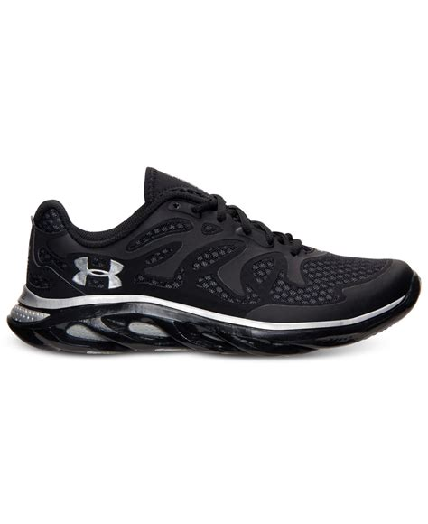 armour black sneakers lyst armour s spine evo running sneakers from