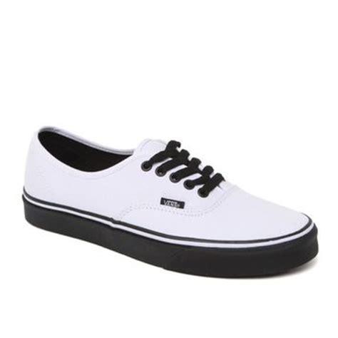 vans authentic black sole shoes mens from pacsun