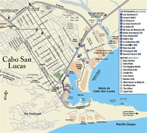 map of cabo san lucas cabo maps