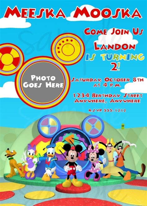mickey mouse clubhouse printable birthday decorations 6 best images of mickey mouse clubhouse invitations