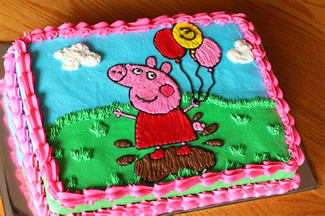 ganos happy  bithday peppa pig sheet cake