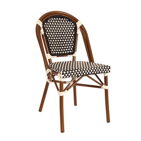 parisian chair in black and white