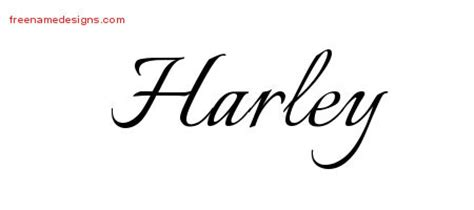 tattoo name harley calligraphic name tattoo designs harley free graphic