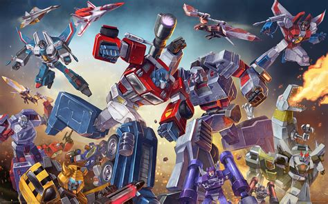 wallpaper anime transformers wallpaper anime battle optimus prime toy machine