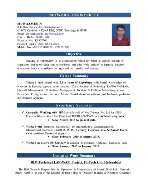 Cisco Certified Network Associate Sle Resume by Cover Letter Sle Network Engineer 28 Images Resume Sle Network Engineer 28 Images Cover