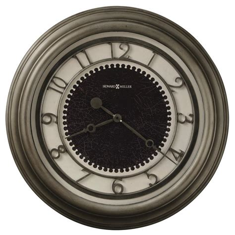 oversized wall clock clockway 25 5in howard miller deluxe oversized gallery wall clock antique nickel finished chm2212