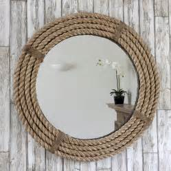 la rope twisted rope round mirror by decorative mirrors online notonthehighstreet com