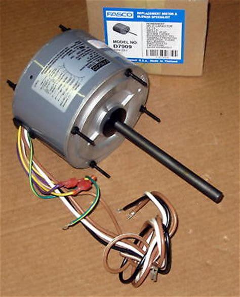 ac condenser fan capacitor fasco d7909 ac air conditioner condenser fan motor 1 4 hp 1075 rpm 230 volts ebay