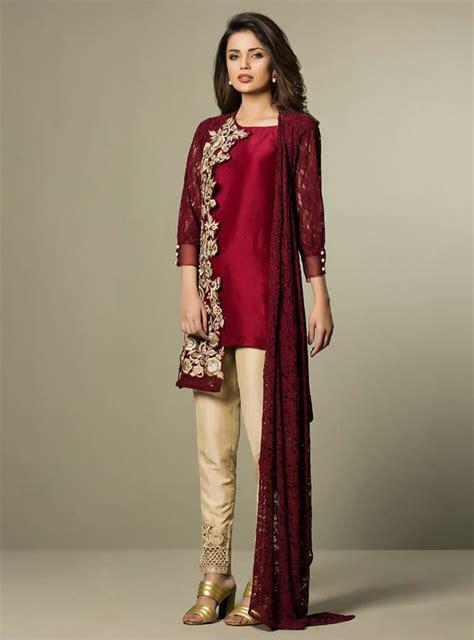 Maxi Zaenab Maroon eid collection 2017 by fashion designers