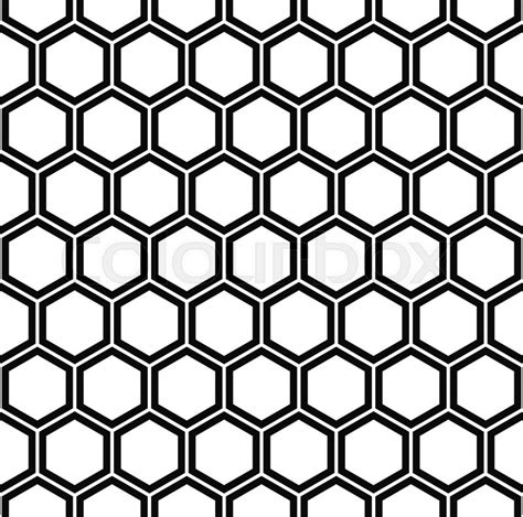 hexagonal pattern stock vector repeat and black white hexagon pattern background stock