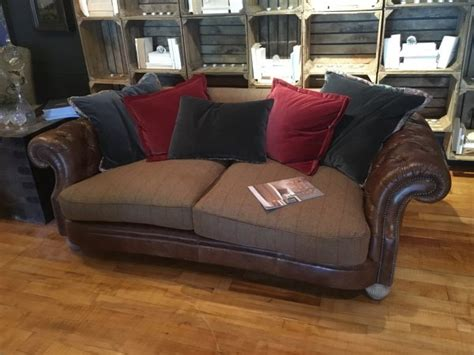 tetrad leather sofa tetrad mixed leather fabric sofas jefferson westchester