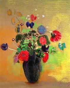 Burgundy Vase Odilon Redon Vase Of Flowers Painting Vase Of Flowers