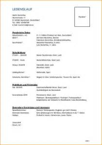 Lebenslauf Muster Schüler Vorlage 7 Lebenslauf Vorlage Sch 252 Ler Reimbursement Format