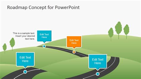 free roadmap template powerpoint creative roadmap concept powerpoint template slidemodel