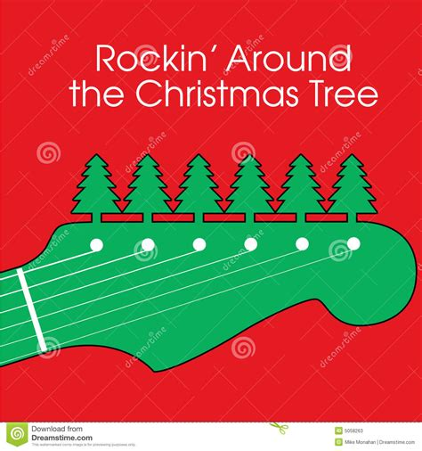 rocking around the christmas tree movies guitar background stock vector image 5058263