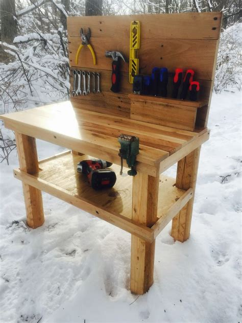 kids pallet workbench  steps  pictures