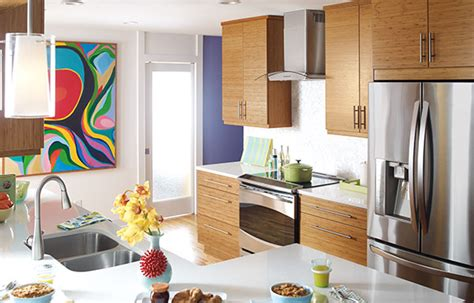 bamboo kitchen cabinets in natural finish kitchen craft kitchen makeovers renovation stories masterbrand