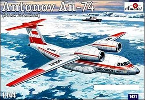 commercial plastic model airplanes antonov an74 polar soviet commercial cargo plastic model