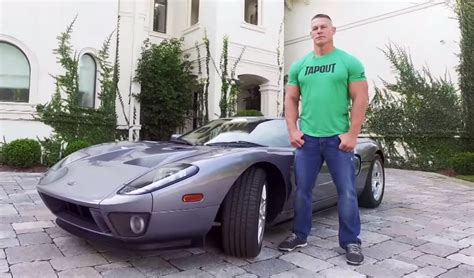 Wrestling Curtains John Cena Shows Off His Low Mileage Ford Gt