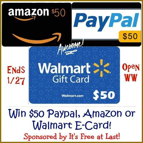 Buy Amazon E Gift Card With Paypal - choice of 50 amazon paypal or walmart e gift card in this giveaway tom s take on