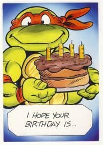 michaelangelo birthday greeting card turtles tmnt