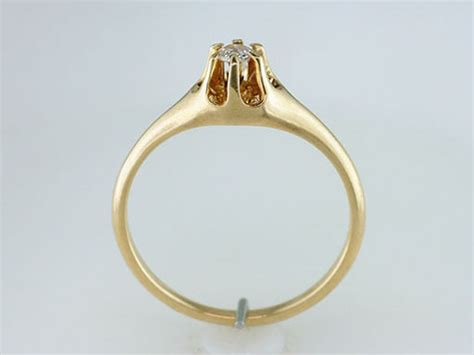 Antique Gold Engagement Rings by Vintage Antique 14k Yellow Gold