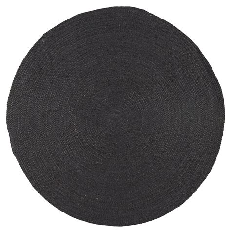 ib laursen runder teppich jute schwarz kaufen - Schwarzer Runder Teppich