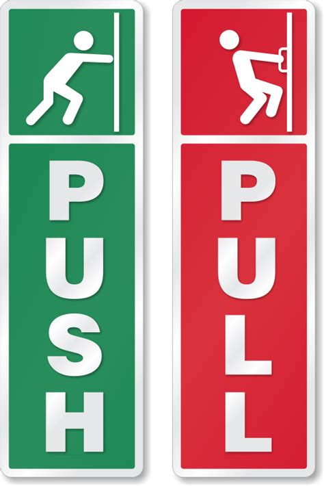 Push Door by Push Pull Signs Push Pull Door Signs And Labels