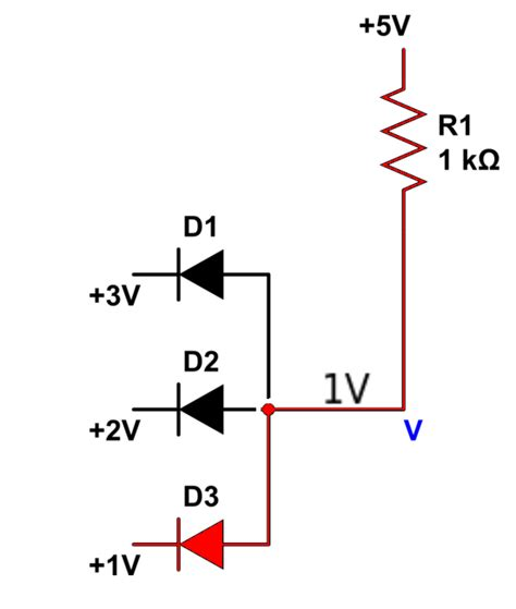 parallel resistor with diode diode circuit with parallel voltage source electrical engineering stack exchange