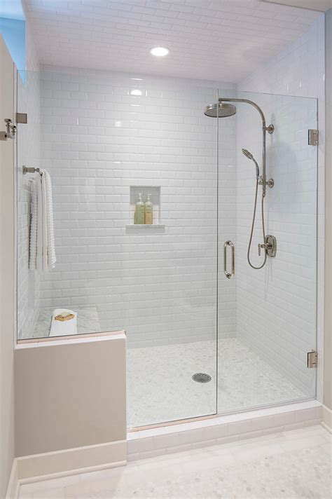 tile walk shower doors white wall tiles subway bathroom ideas design and more best free
