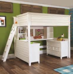 Loft Beds With Desk And Dresser Lea Industries Willow Run Lofted Bed With Desk
