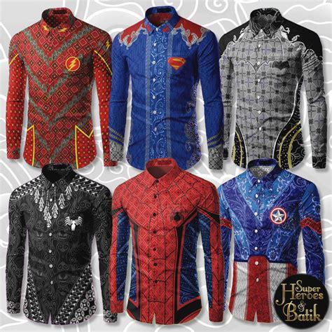 Baju Kucing Trendy Superman siapa kata baju batik ketinggalan zaman ni ada 6 rekaan baju batik superheroes yang cool