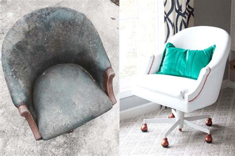 Painting Pleather Furniture by Painted Pleather Chair Southern Revivals