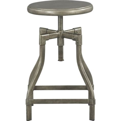 Crate And Barrel Turner Stool by Turner Gunmetal Adjustable Backless Counter Stool In Bar