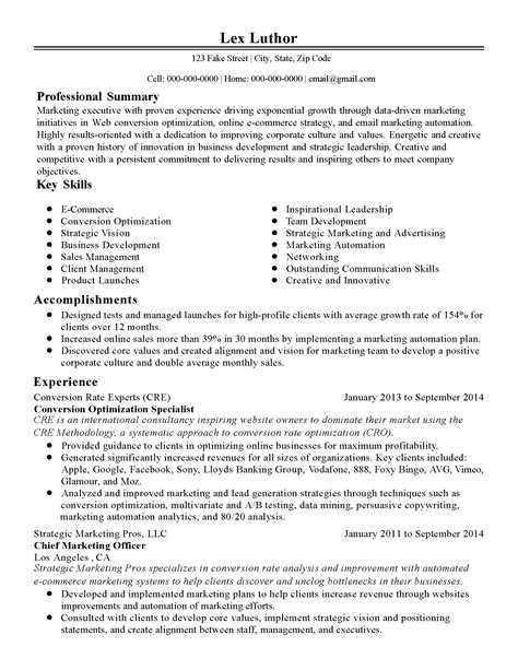 ecommerce resume sle professional conversion optimization specialist templates