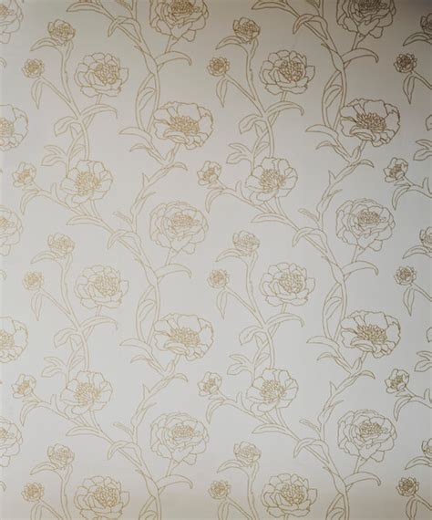 gold temporary wallpaper peonies self adhesive removable wallpaper gold leaf