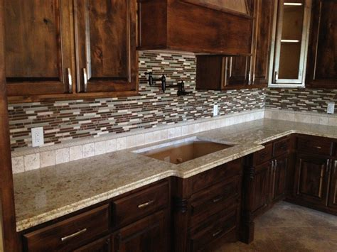 glass tile backsplash santa cecilia granite google