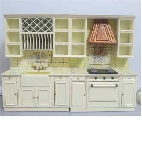 Miniature Dollhouse Kitchen Furniture Bespaq Dollhouse Miniature Furniture Kitchen Cabinet Appliance Sink S