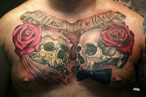 one piece chest tattoo awesome chest piece tattoos pinterest the skulls u
