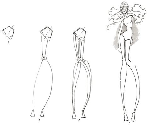 fashion illustration templates poses free engine image for user
