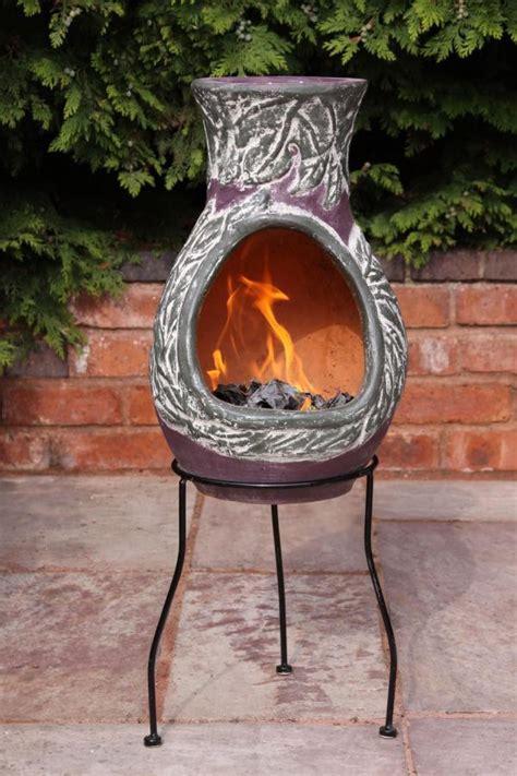 Clay Patio Heater Earth Inspired Clay Chimenea Patio Heater Three Sizes
