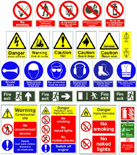 construction safety signs and symbols