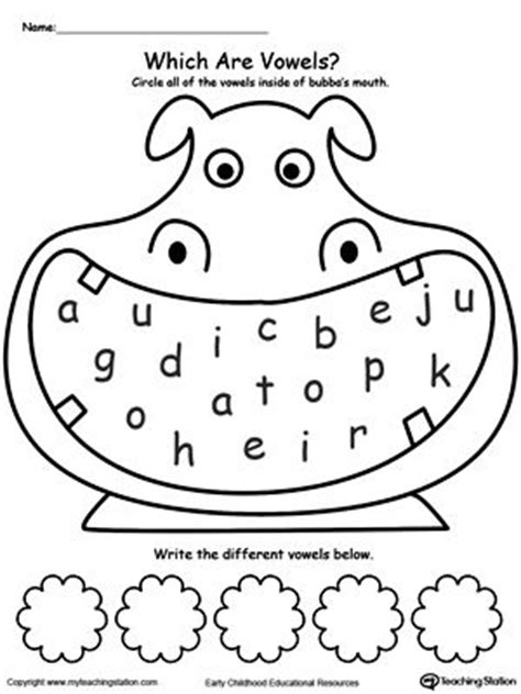 printable vowel letters practice recognizing vowels the alphabet activities and